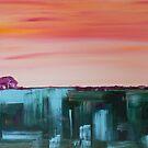 Quiet Mornings Semi-Abstract Landscape by Eliza Donovan