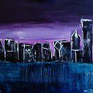 Chicago Skyline on a Frosty Night by Eliza Donovan