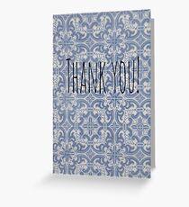 Thank you tile print Greeting Card