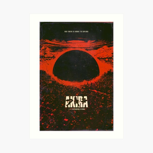 Affiche d'explosion de la ville cyberpunk d'Akira Impression artistique