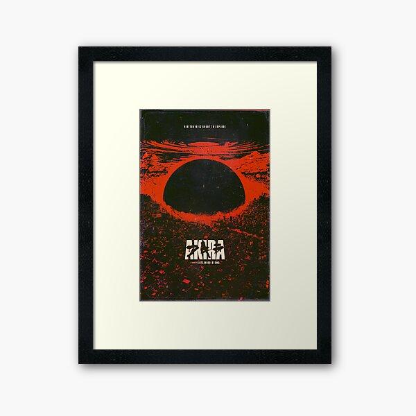 Akira cyberpunk city explosion poster Framed Art Print