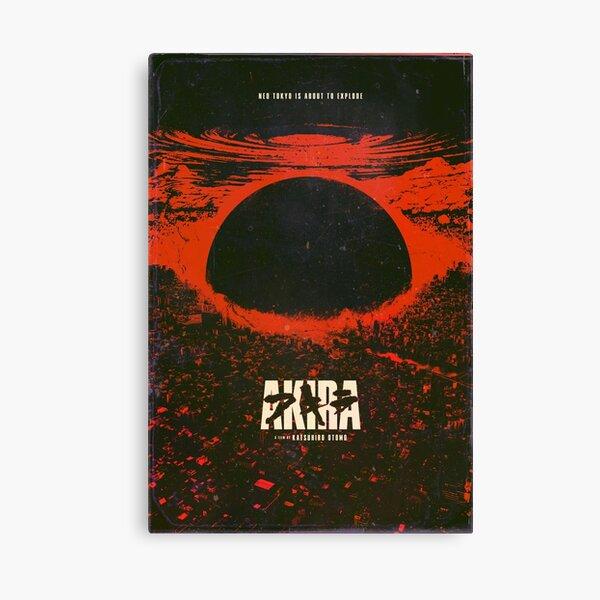 Akira cyberpunk city explosion poster Canvas Print