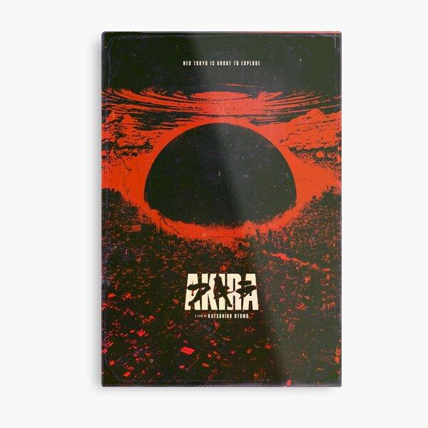 Akira cyberpunk city explosion poster Metal Print