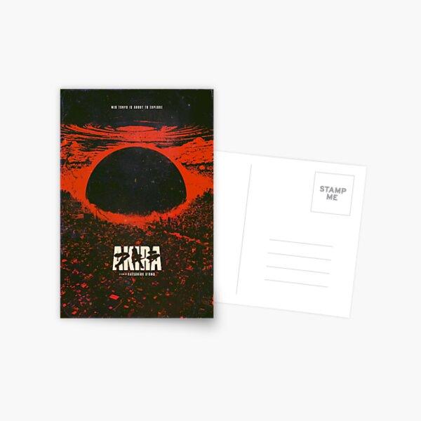Affiche d'explosion de la ville cyberpunk d'Akira Carte postale