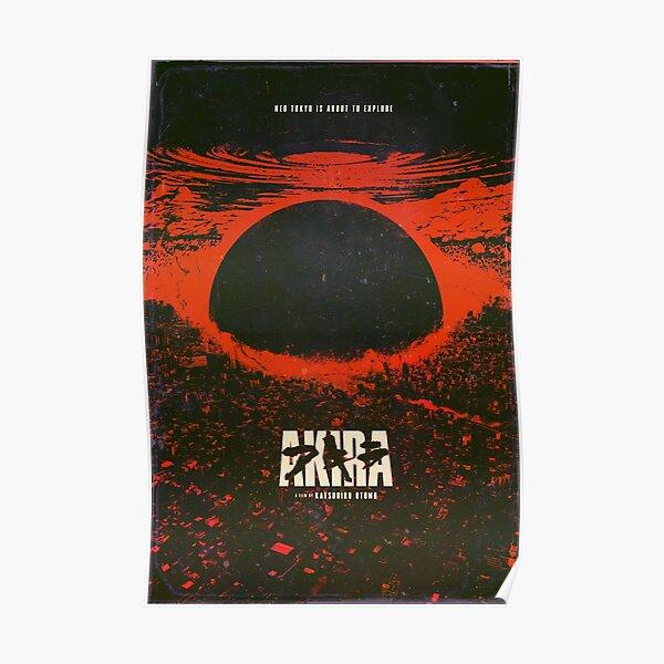 Akira cyberpunk city explosion poster Poster