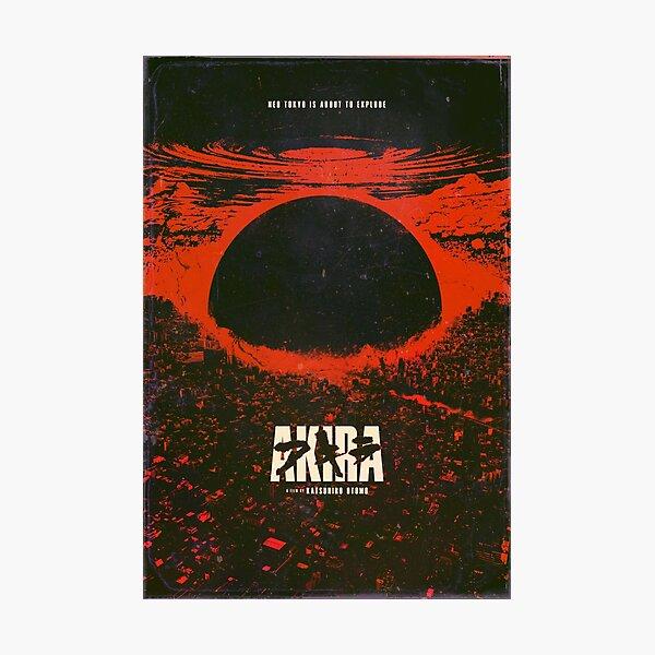 Akira cyberpunk city explosion poster Photographic Print