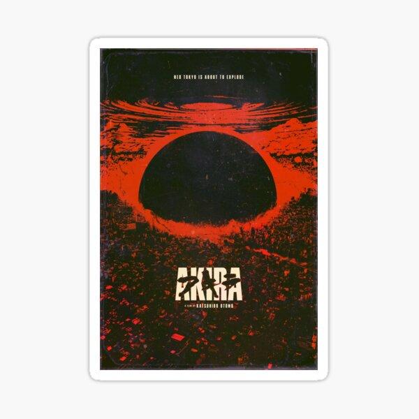 Akira cyberpunk city explosion poster Sticker