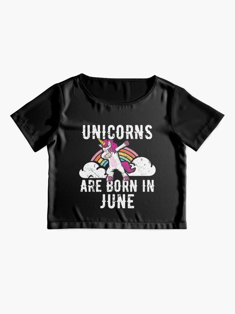 Alternative Ansicht von Unicorns Are Born In June Shirt Birthday Month Gift Tee Chiffon Top