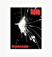 Black Flag - Damaged Art Print