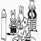RABBITS Vintage Art by Bruce ALMIGHTY Baker