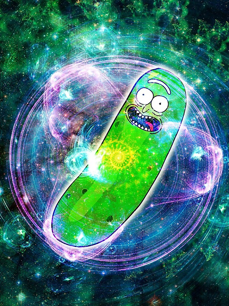 Pickle Rick in Space | Rick and Morty | Flower of Life by FreshThreadShop