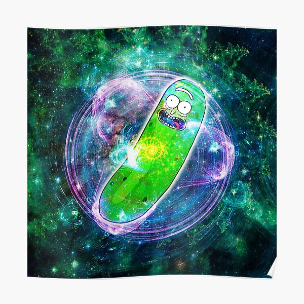 Pickle Rick in Space | Rick and Morty | Flower of Life Poster