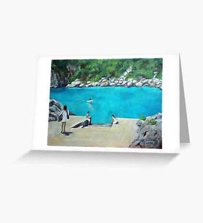 Bus stop - Capri style Greeting Card