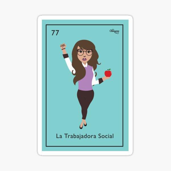 La Trabajadora Social No Apple Sticker