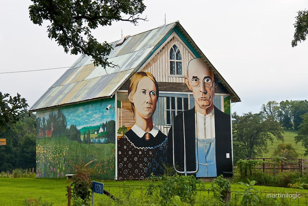 Grant Wood Barn by martinilogic