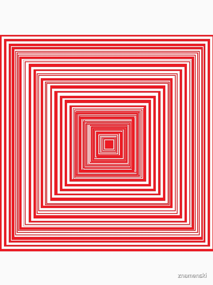 Grid of nested red squares by znamenski