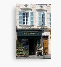 characteristic facades France Canvas Print