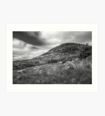 Mount Errigal and the Derelict Church Art Print