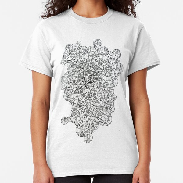 3D Printed T-Shirts Yellow Blue and Green Pastel Floral of Spirals Swirls Doodles Short Sleeve Tops Tees