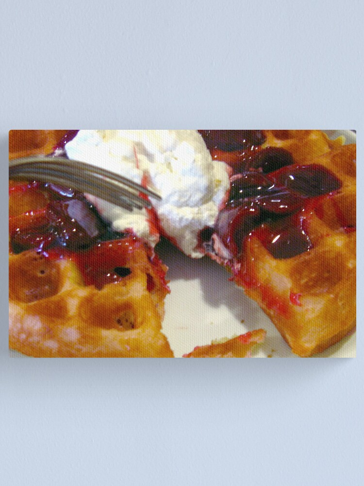 Alternate view of Belgian Waffles at Ruby's Canvas Print