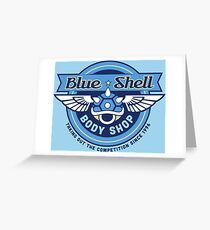 Blue Shell Auto Body Greeting Card