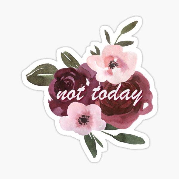 No Hoy Floral Pegatina