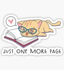 Cat the Book Lover Funny Reading Design Sticker