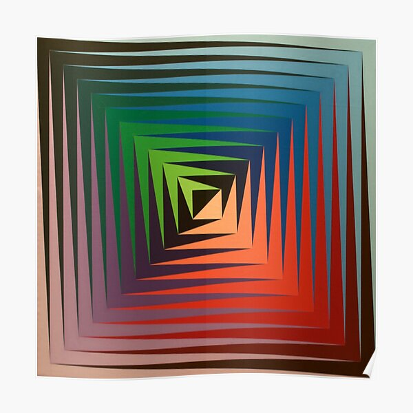 Victor #Vasarely, was a Hungarian-French #artist, who is widely accepted as a #grandfather and leader of the #OpArt movement Poster