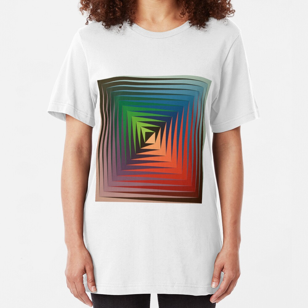 Victor #Vasarely, was a Hungarian-French #artist, who is widely accepted as a #grandfather and leader of the #OpArt movement Slim Fit T-Shirt