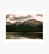 Patricia Lake & Pyramid Mountain  Art Print
