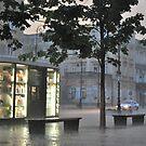 Krakowskie Przedmieście in storm - Warsaw, Poland by Lukasz Godlewski
