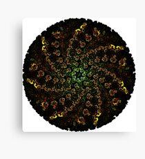 Circular Fractal Spiral Canvas Print
