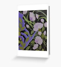 ABSTRACT GARDEN DELIGHTS Greeting Card