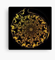 Gold Spiral Fractal Canvas Print