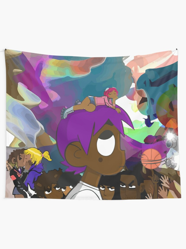 Alternate view of Luv is Rage 2 Album Cover Tapestry