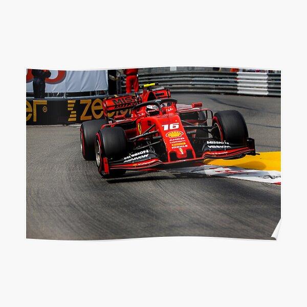 Ferrari Charles Leclerc Monaco Poster