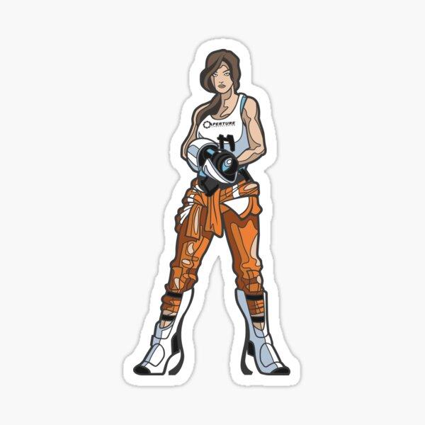 Chell vom Portal Sticker