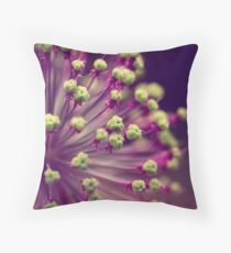 Purple and Lime Green Throw Pillow