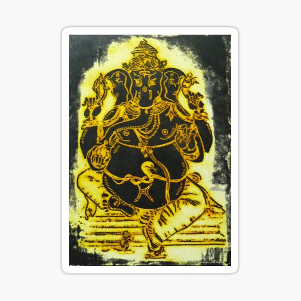Gold Ganesh Sticker