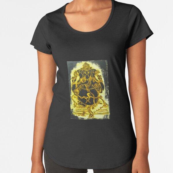 Gold Ganesh Premium Scoop T-Shirt