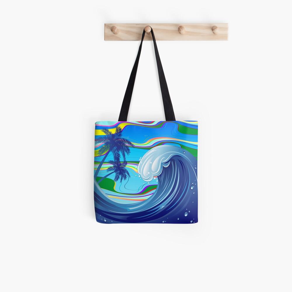 Sea Ocean big Wave Water  Tote Bag