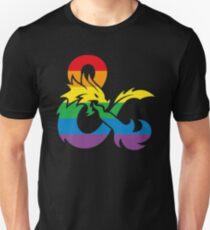 duneons rainbow logo Slim Fit T-Shirt