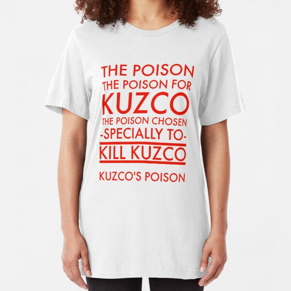 The Poison. in red Slim Fit T-Shirt