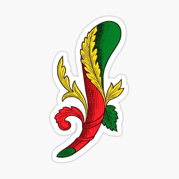 Italian Ace of Clubs Scopa / Briscola card Sticker