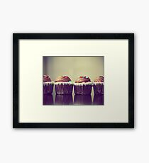 Cupcakes Lined Up Framed Print