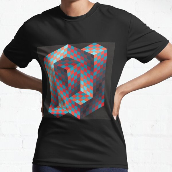 Op Art #OpArt Optical Art #OpticalArt Optical Illusions #OpticalIllusions #Illusion Active T-Shirt