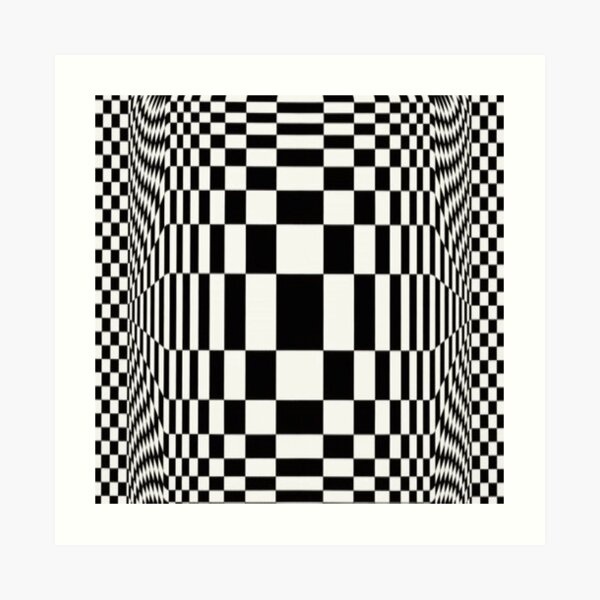 Op Art. Victor #Vasarely, was a Hungarian-French #artist, who is widely accepted as a #grandfather and leader of the #OpArt movement Art Print