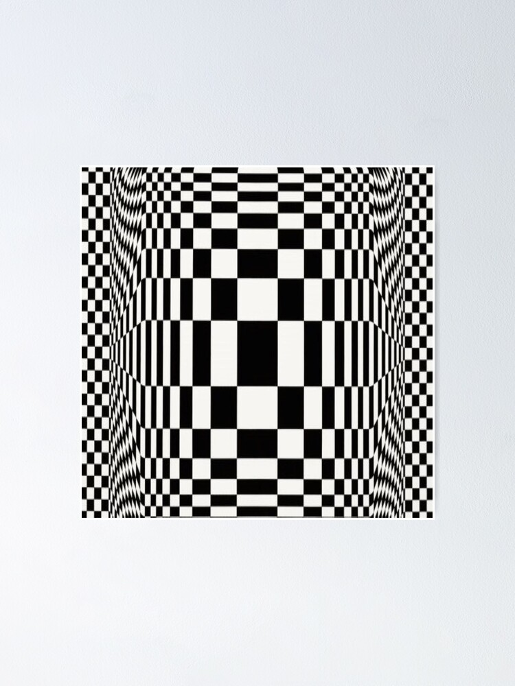 Alternate view of Op Art. Victor #Vasarely, was a Hungarian-French #artist, who is widely accepted as a #grandfather and leader of the #OpArt movement Poster