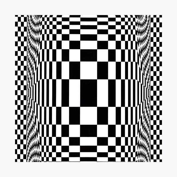 Op Art. Victor #Vasarely, was a Hungarian-French #artist, who is widely accepted as a #grandfather and leader of the #OpArt movement Photographic Print