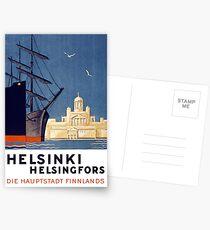 Helsinki-Weinlese-Reise-Plakat wieder hergestellt Postkarten